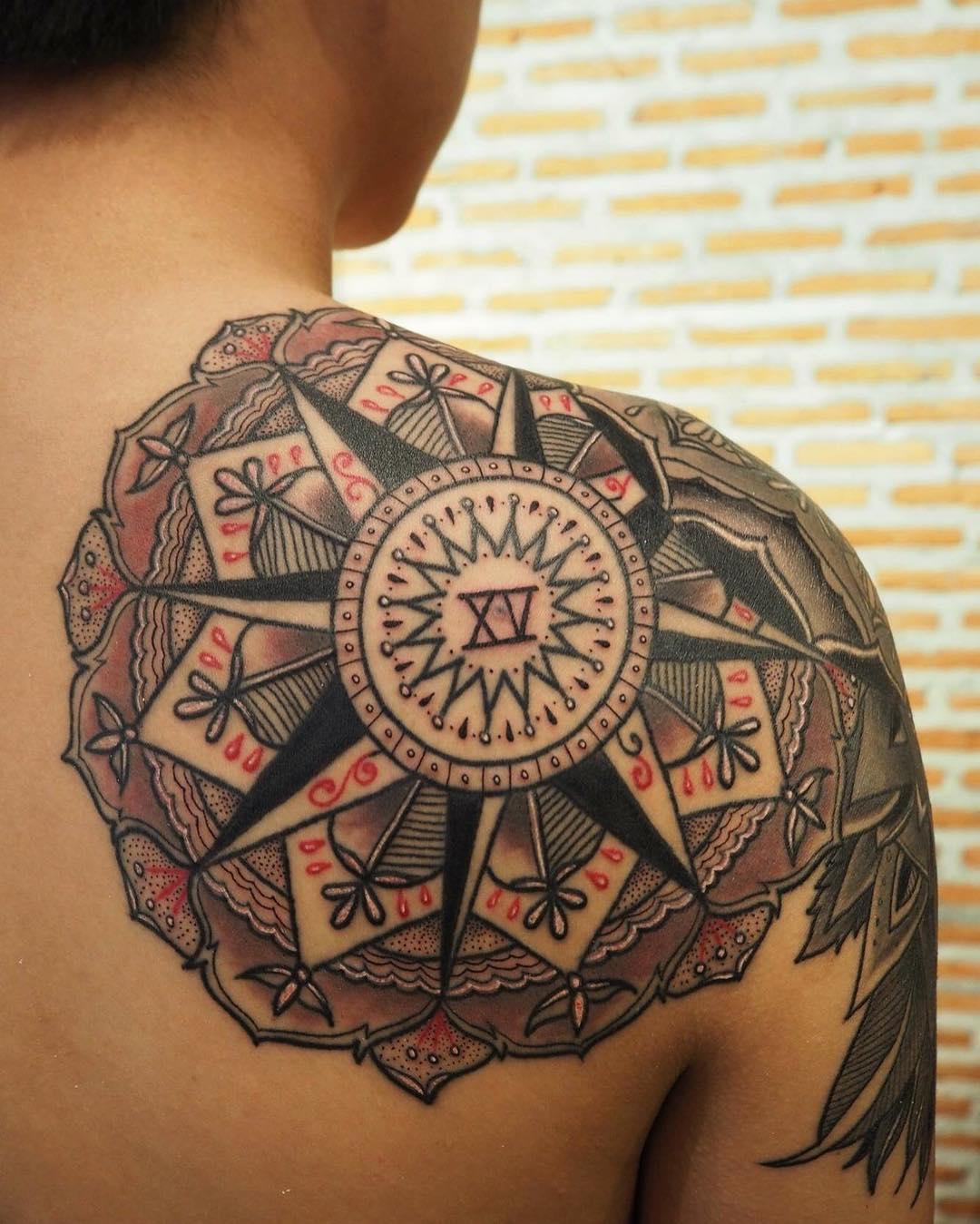 140 mandala tattoo designs ideas design trends. Black Bedroom Furniture Sets. Home Design Ideas
