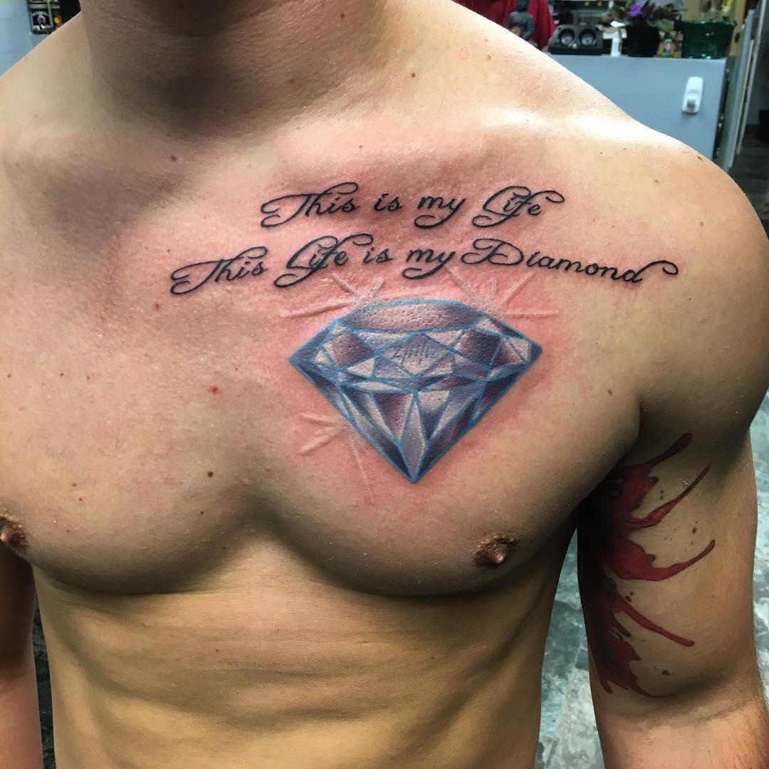 diamond chest tattoo - photo #1