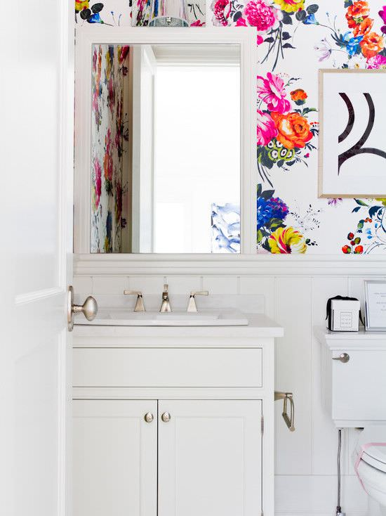 31 bathroom wallpaper designs bathroom designs design for Bathroom wallpaper patterns