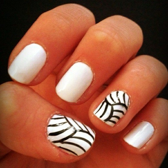 Nail Designs With Little Balls : Black and white nail art designs ideas design trends