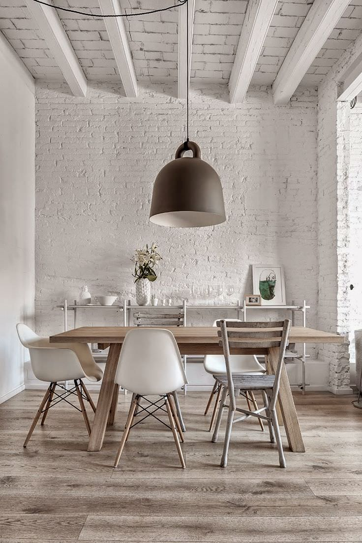 30 white brick wall interior designs home designs for Brick and wood home designs