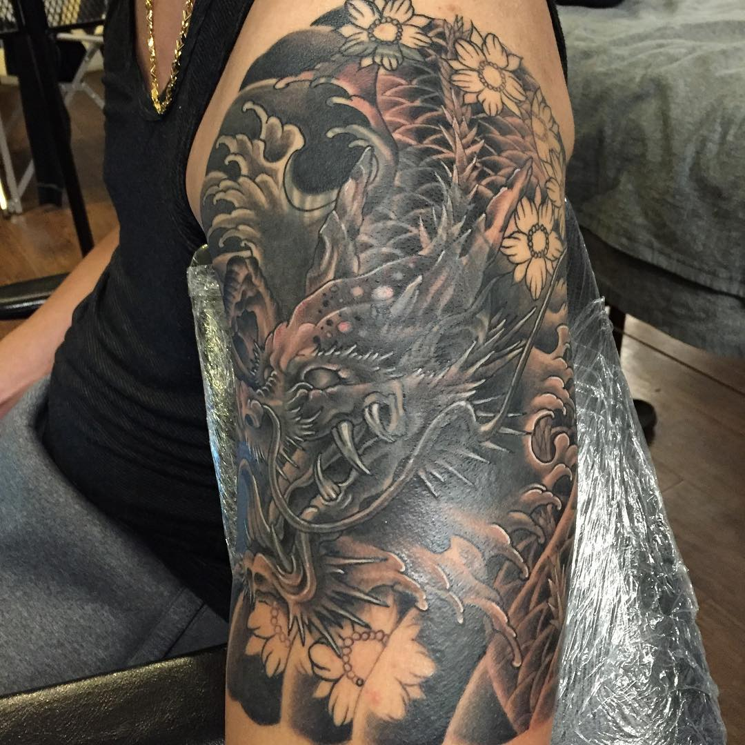 Тату рука фото дракон
