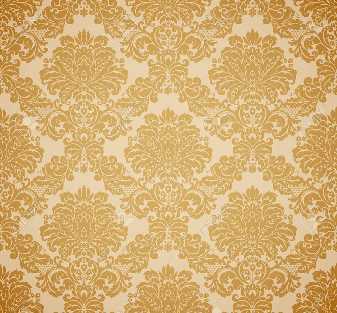 gold foil damask wallpaper
