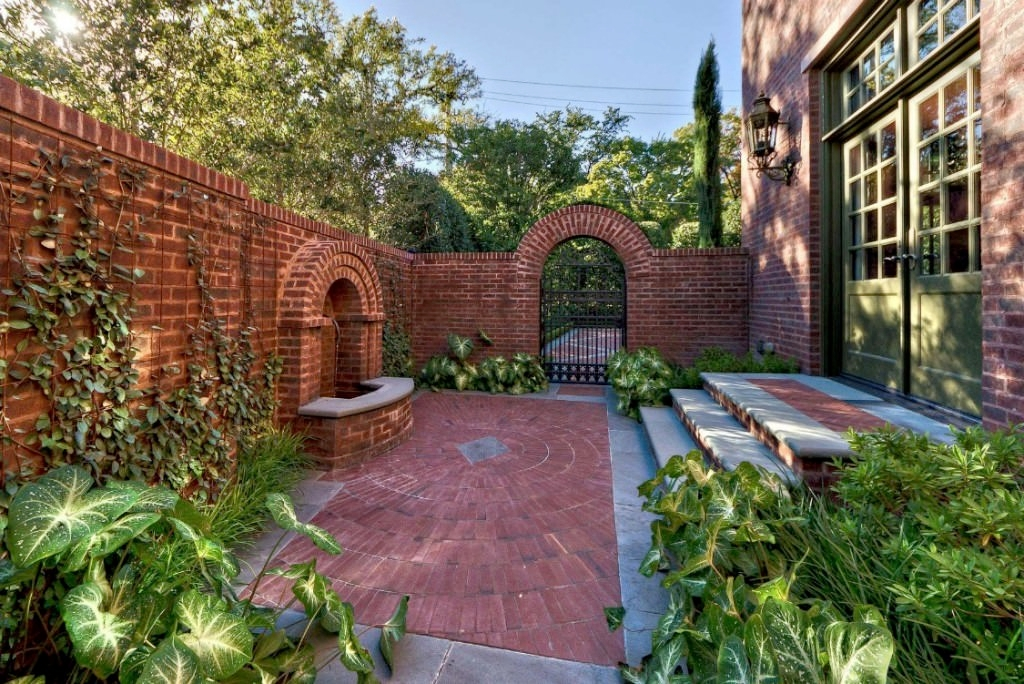 brick wall garden design garden designs designtrends