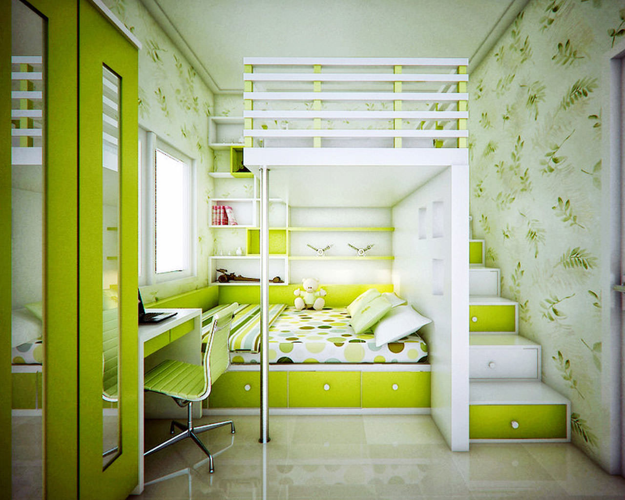 Green room interior design home designs design trends - Green interior design ...