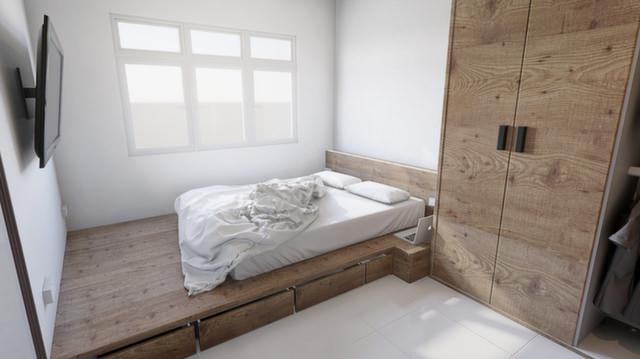 30 platform bedroom designs bedroom designs designtrends for Unique platform beds
