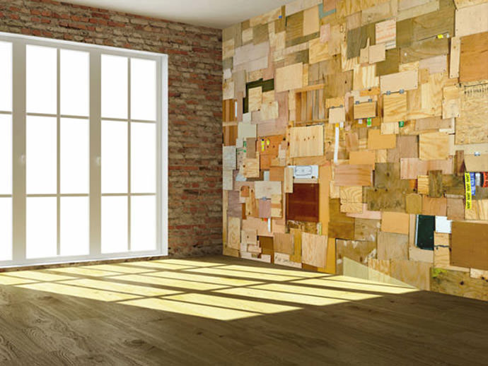 30 wood wall designs wall designs designtrends for Wood slat wall design