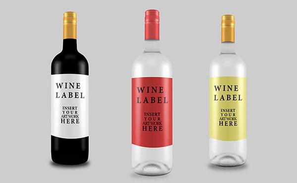 Wine Bottles U0026Amp - Vector download |Wine Bottle Graphic Design