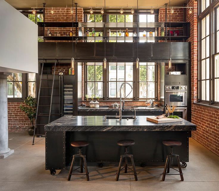 Industrial Kitchen Design: 18+ Industrial Style Designs, Decorating Ideas