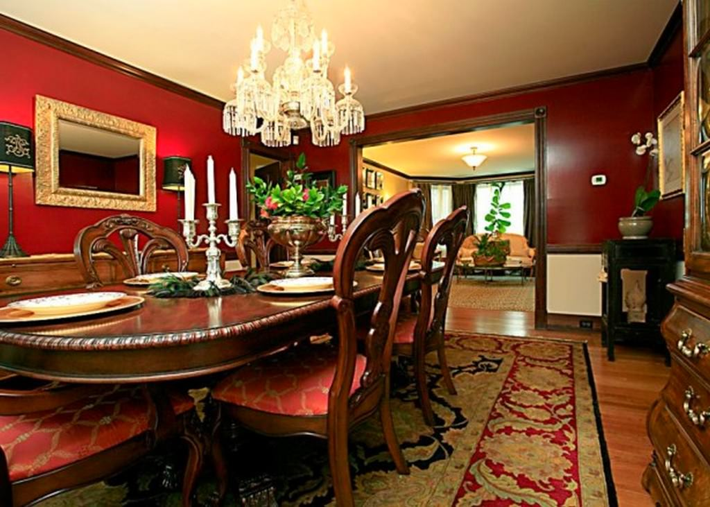 Red dining room designs dining room designs designtrends for Dining room design trends