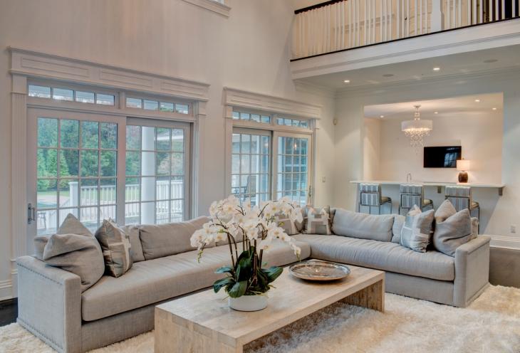 l shaped couch living room design  21  L Shaped Sofa Designs, Ideas, Plans   Design Trends - Premium ...