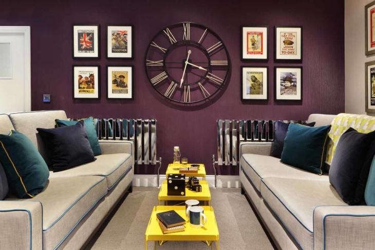 20 wall clocks designs ideas plans design trends for Modern living room clocks