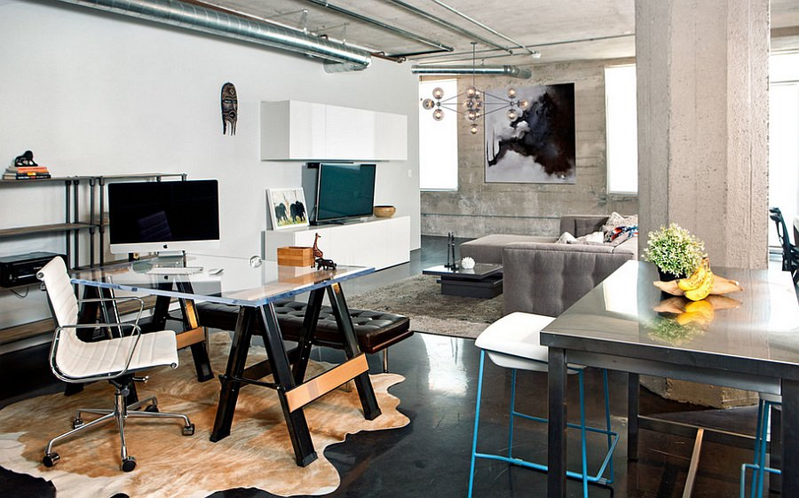29+ Industrial Home Office Designs, Decorating Ideas | Design Trends