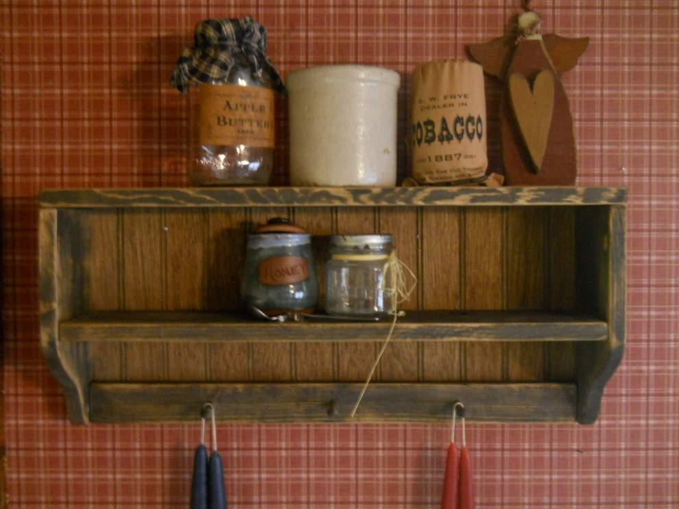 19 Rustic Wall ShelvesLiving Room Designs DesignTrends