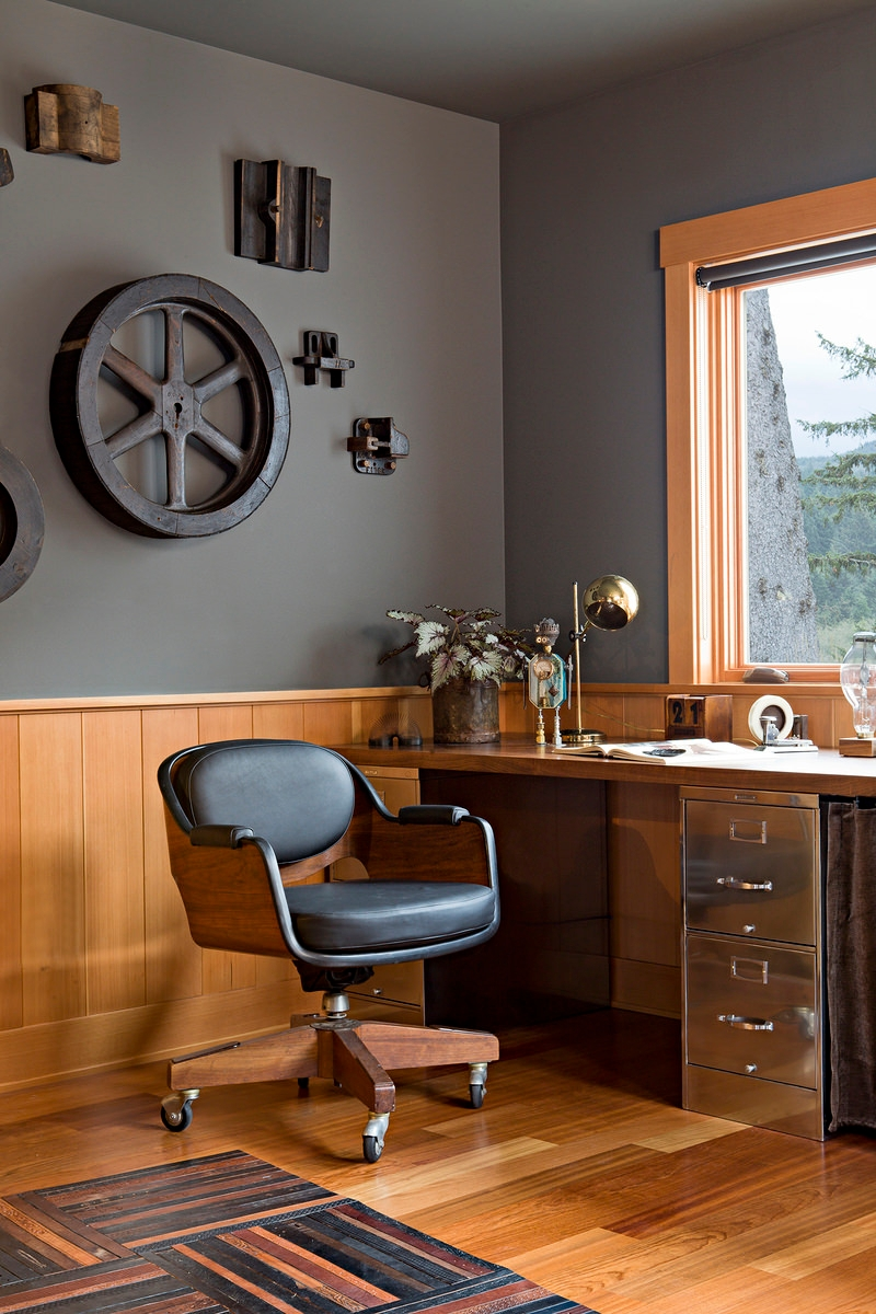 29 Industrial Home Office Designs Decorating Ideas Design Trends