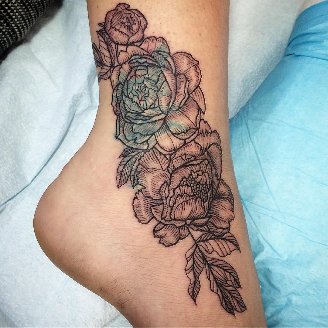 26 Peony Tattoo Designs Ideas