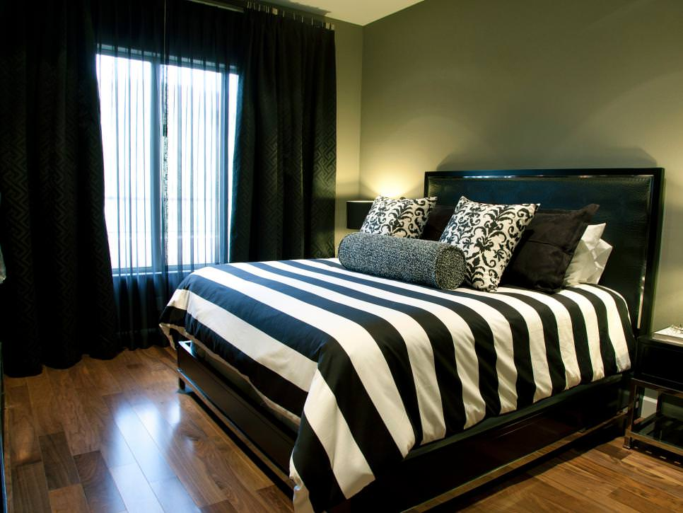 25 black bedroom designs decorating ideas design trends Black and white bedroom decor