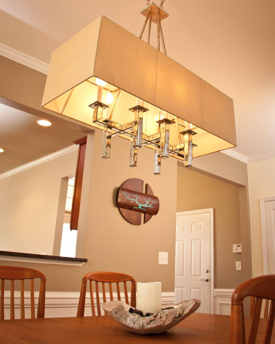 24 rectangular chandelier designs decorating ideas for Rectangle living room designs