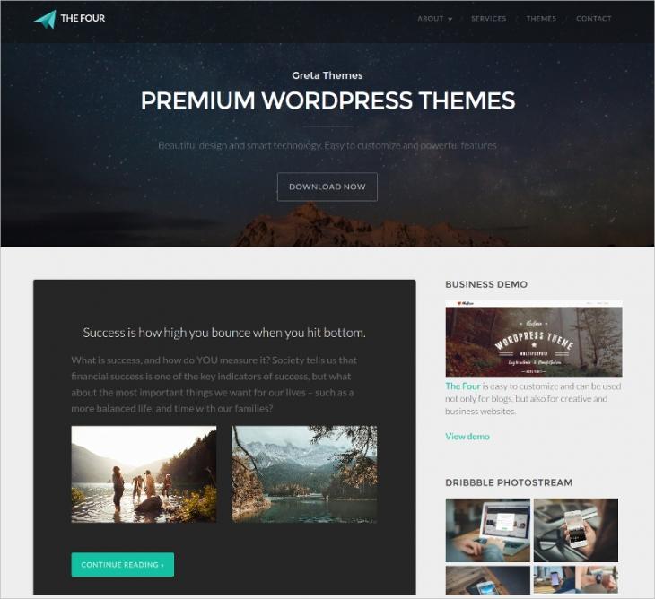 blog wordpress themes bloggers