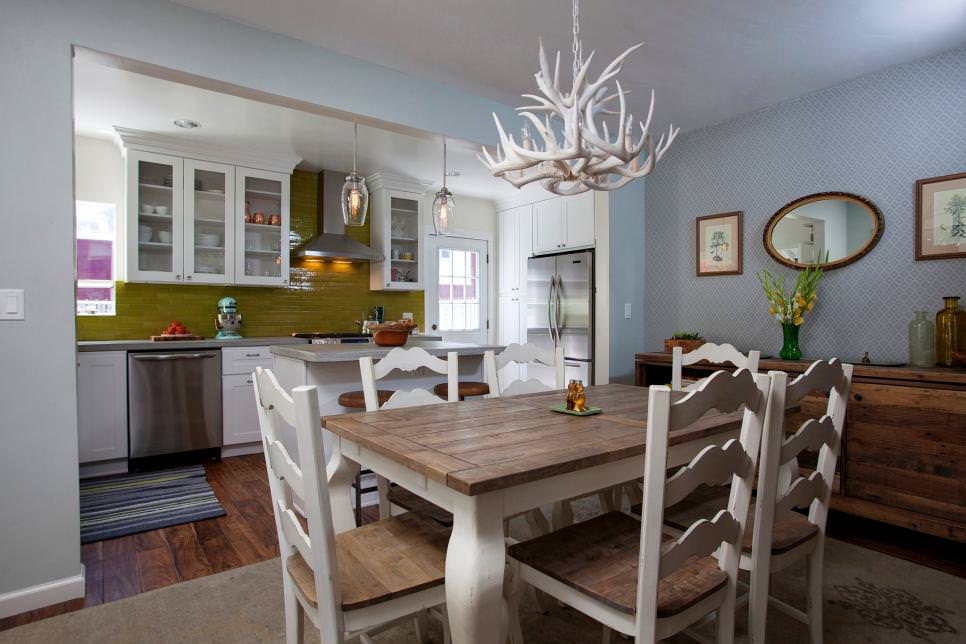 Rustic Open Kitchen Dining Room Designs