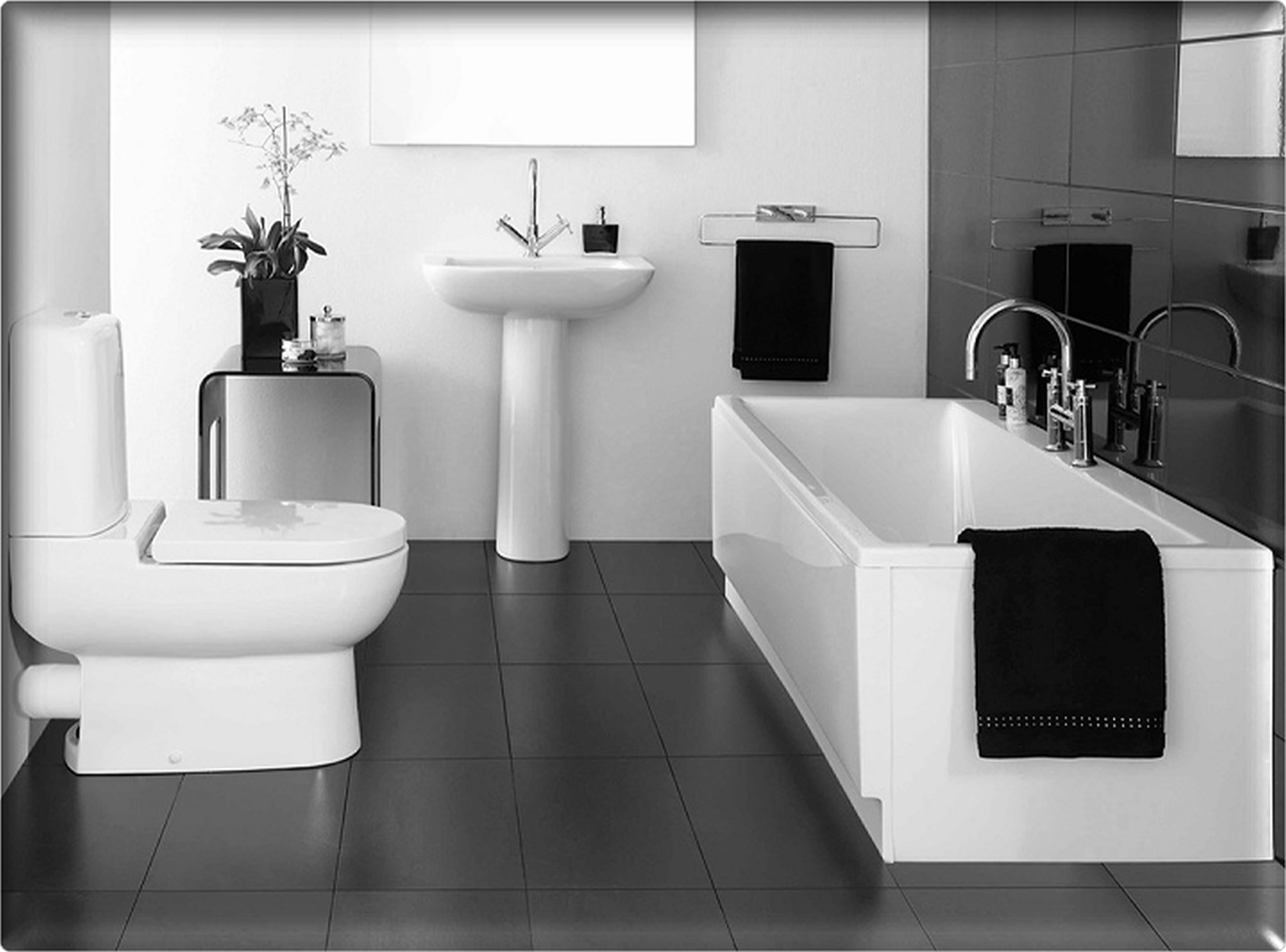black and white bathroom design bathroom designs. Black Bedroom Furniture Sets. Home Design Ideas