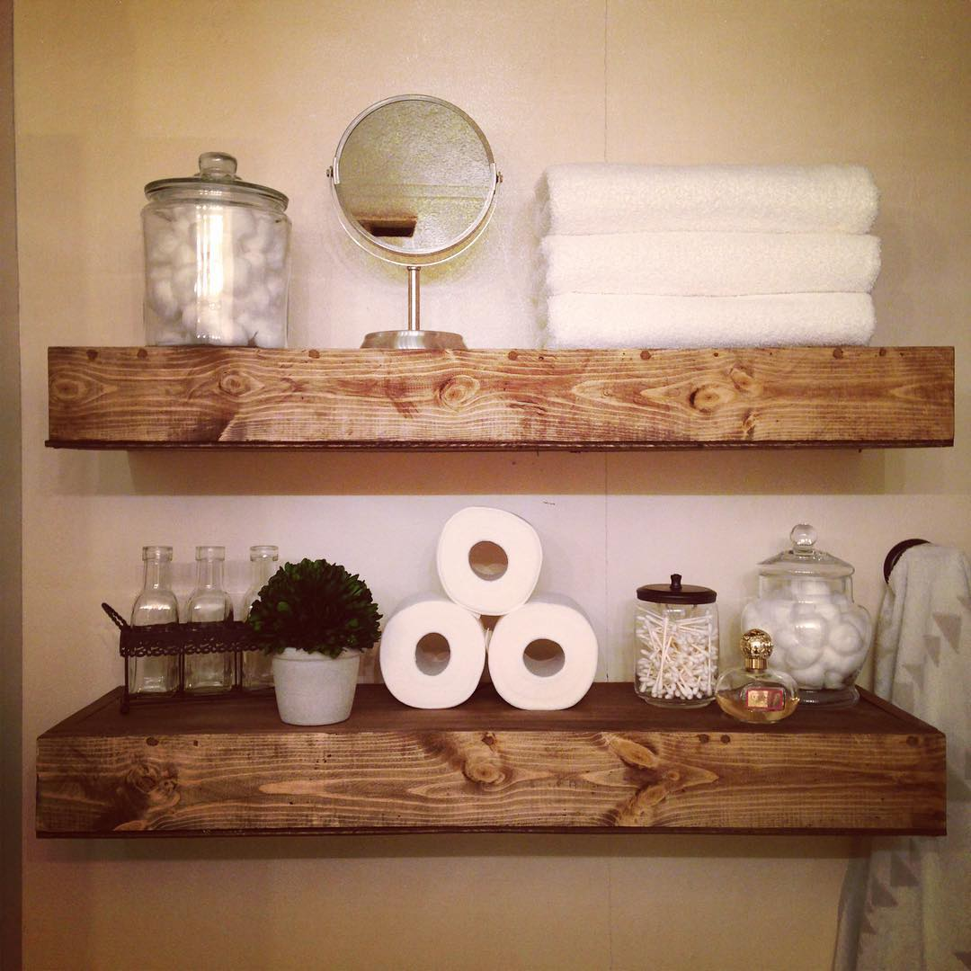 24 bathroom shelves designs bathroom designs design for Decoration shelf