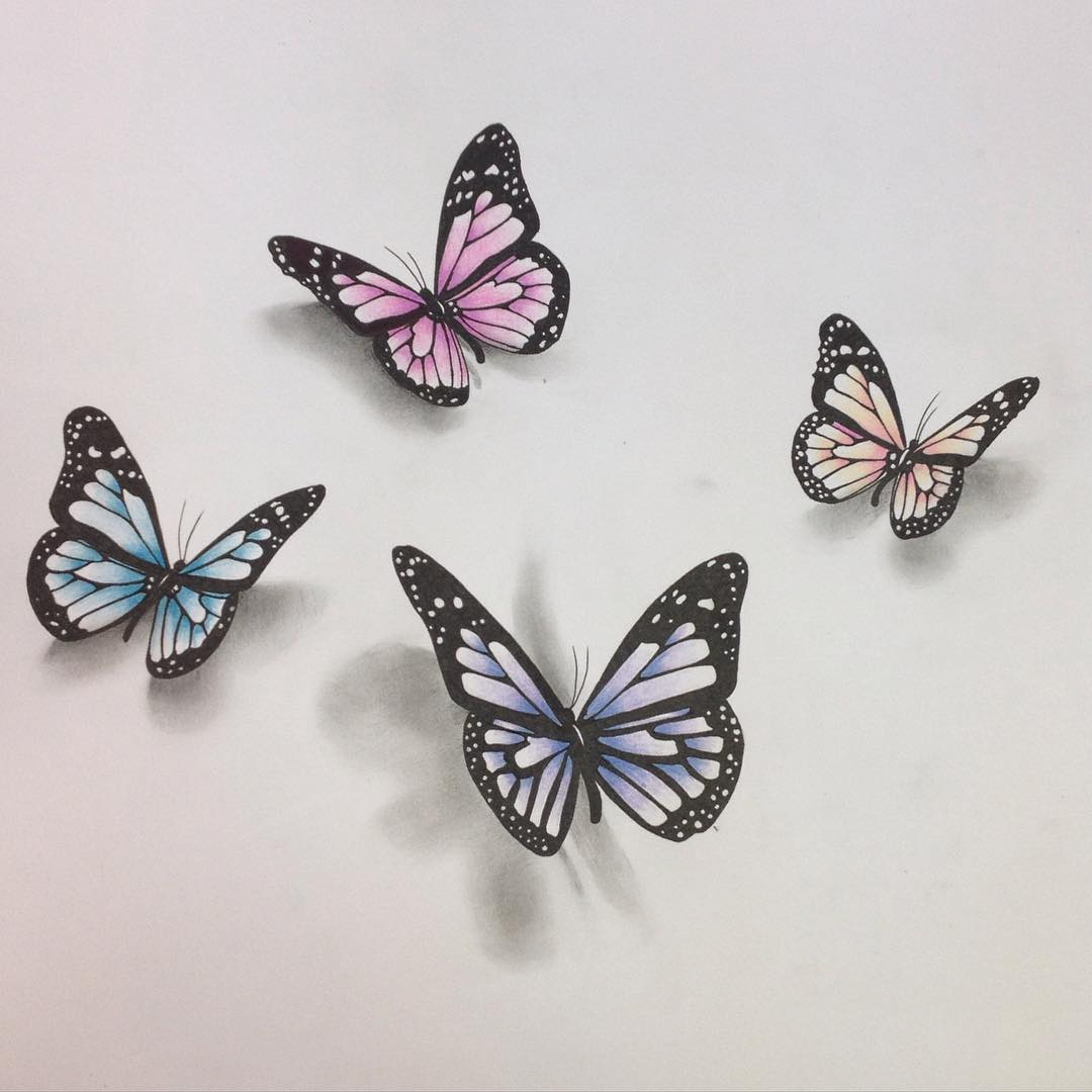 18 Butterfly Drawings Art Ideas
