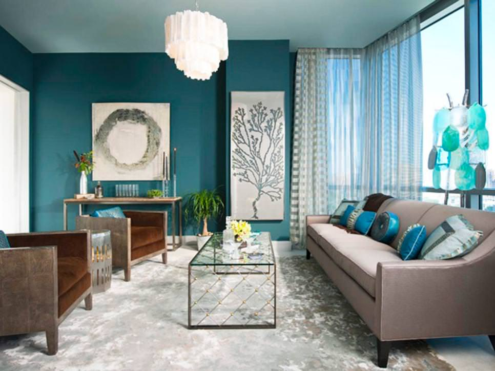 22 teal living room designs decorating ideas design trends Photos of contemporary living rooms