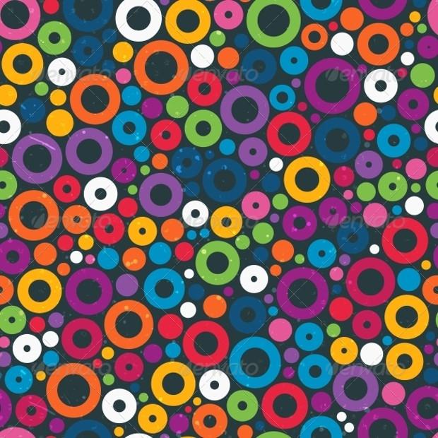 Colorful circle patterns