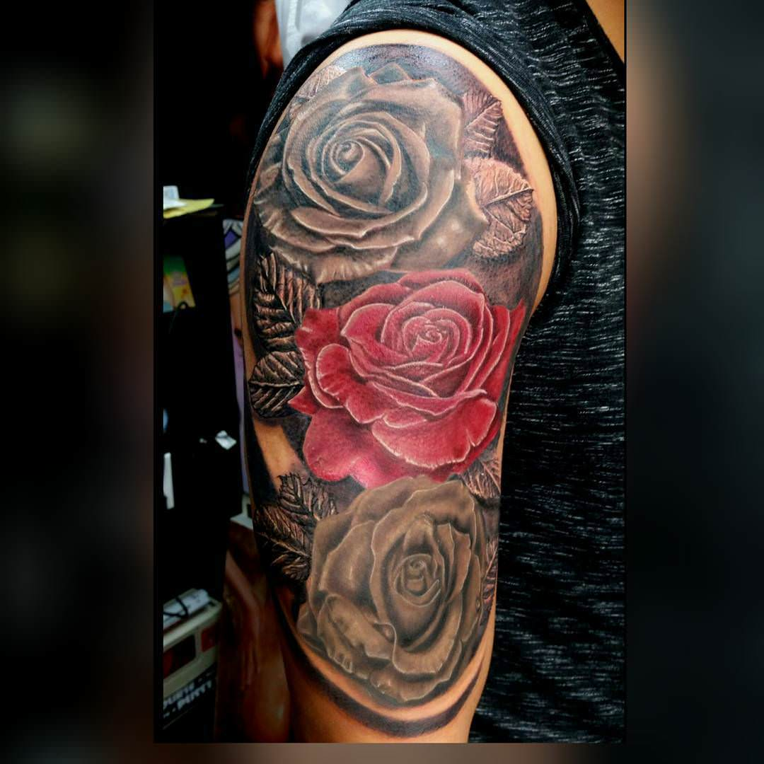 black and grey sleeve tattoos www pixshark