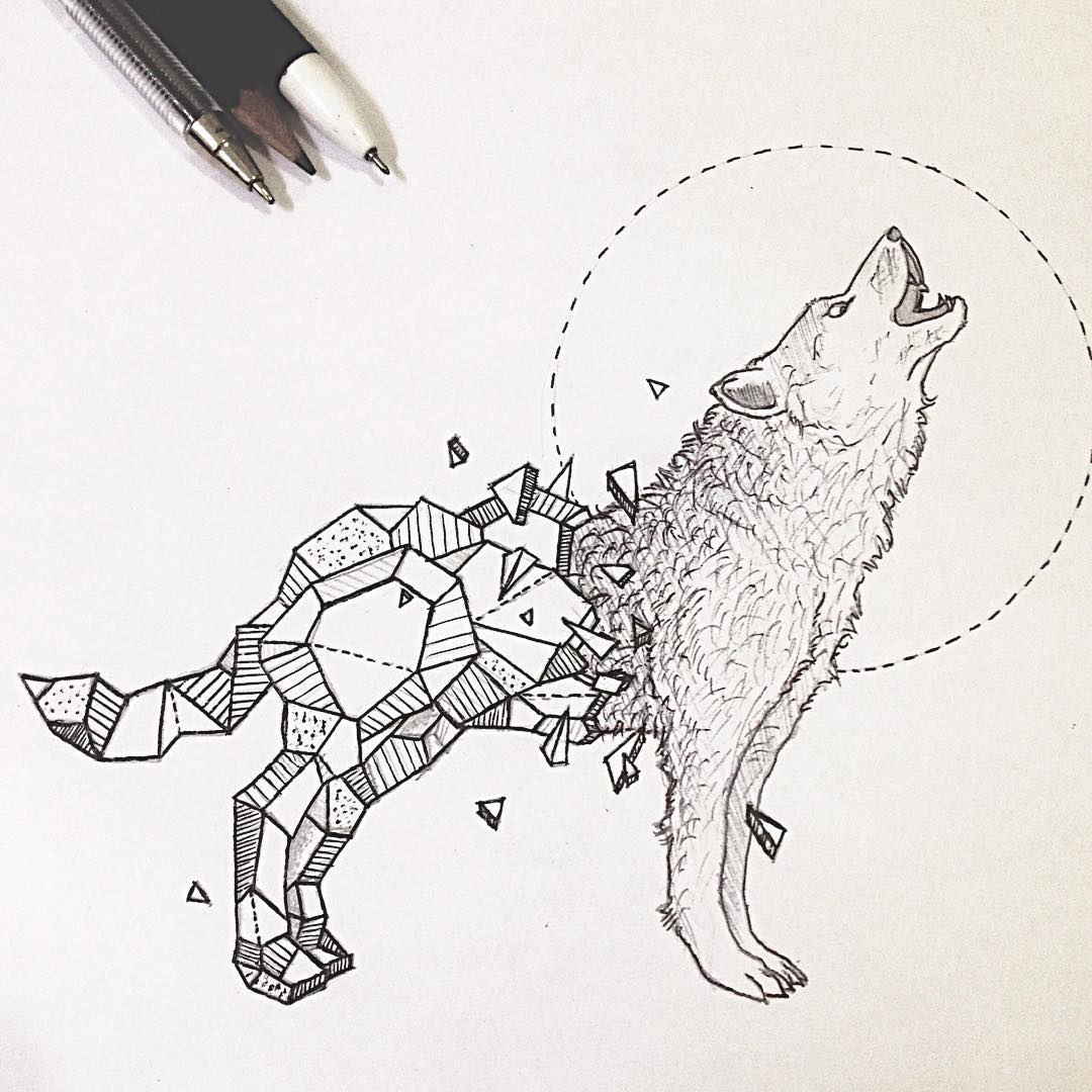 Drawing Ideas Wallpapers 22 Amazing Collection Of Wolf Drawing
