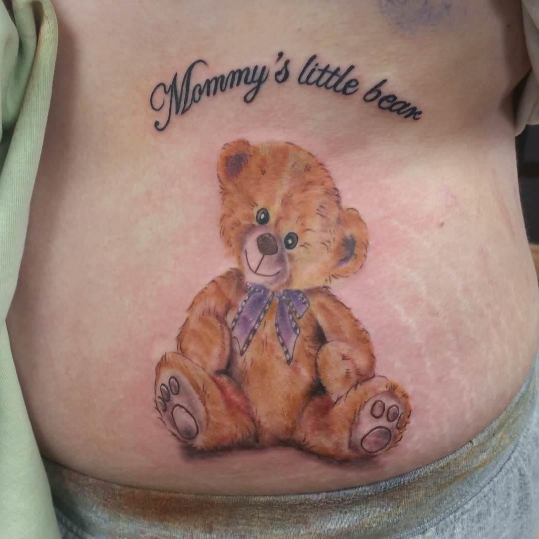 Zombie teddy bear tattoos