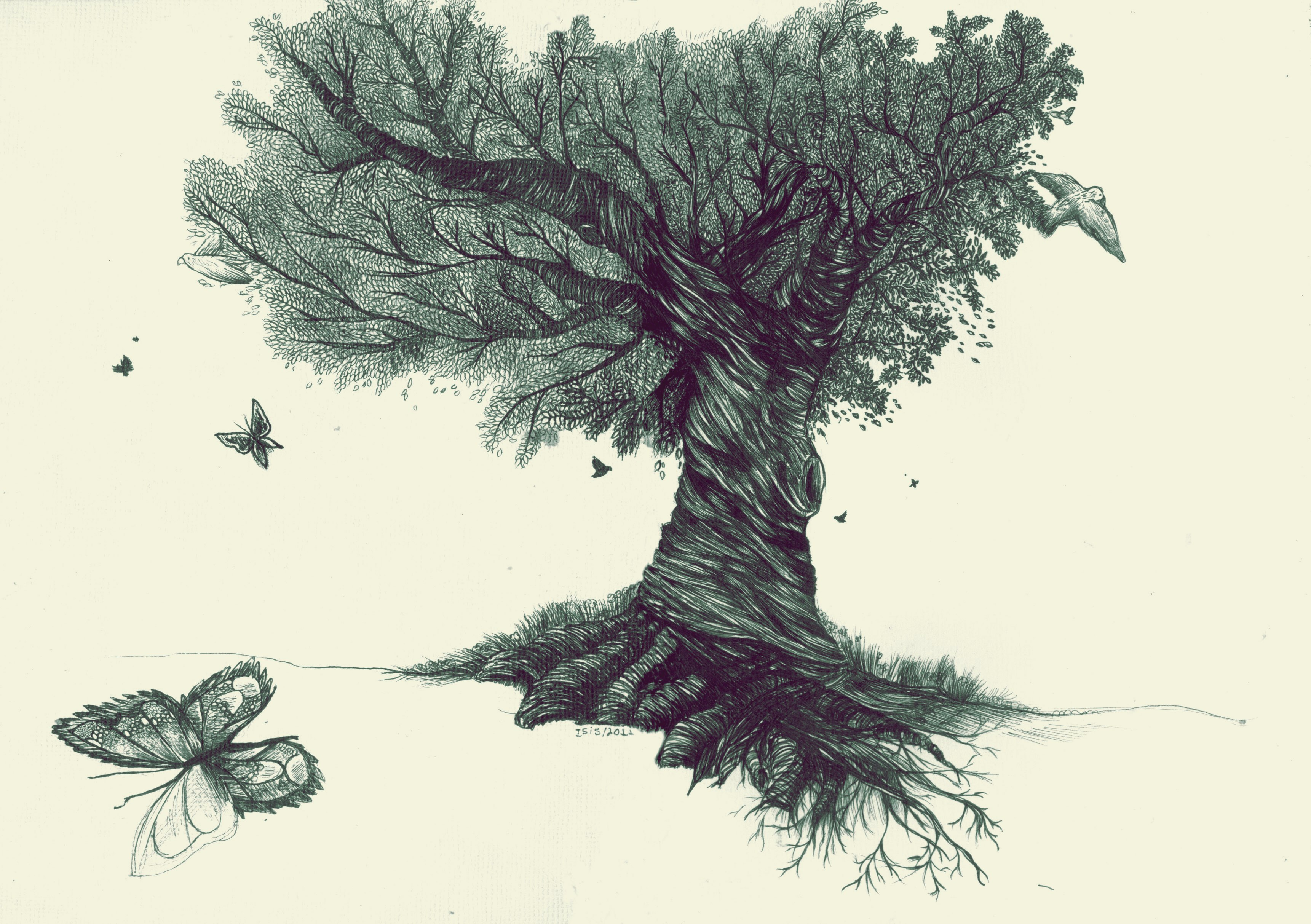 Gorgeous-Tree-Drawing Small Christmas Trees