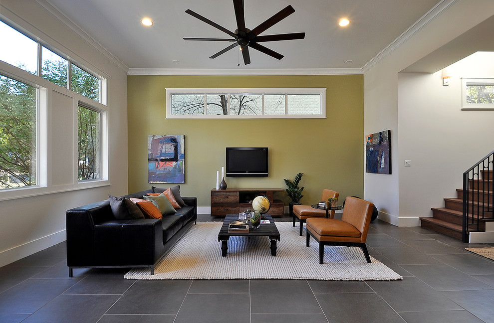 25 accent wall paint designs decor ideas design trends for Modern living room accents