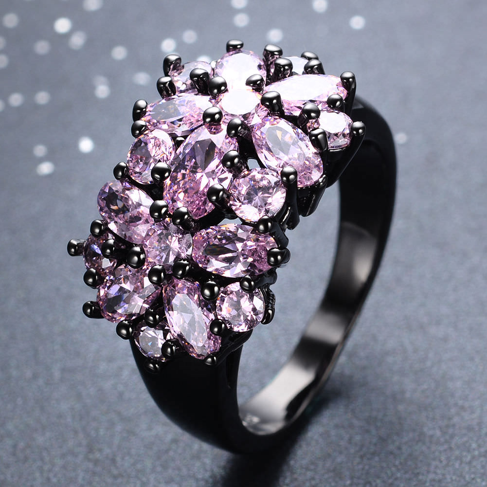 29 Pink And Black Wedding Rings Ring Designs Design Trends