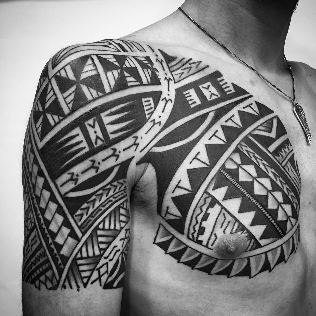 24+ Tribal Shoulder Tattoo Designs, Ideas