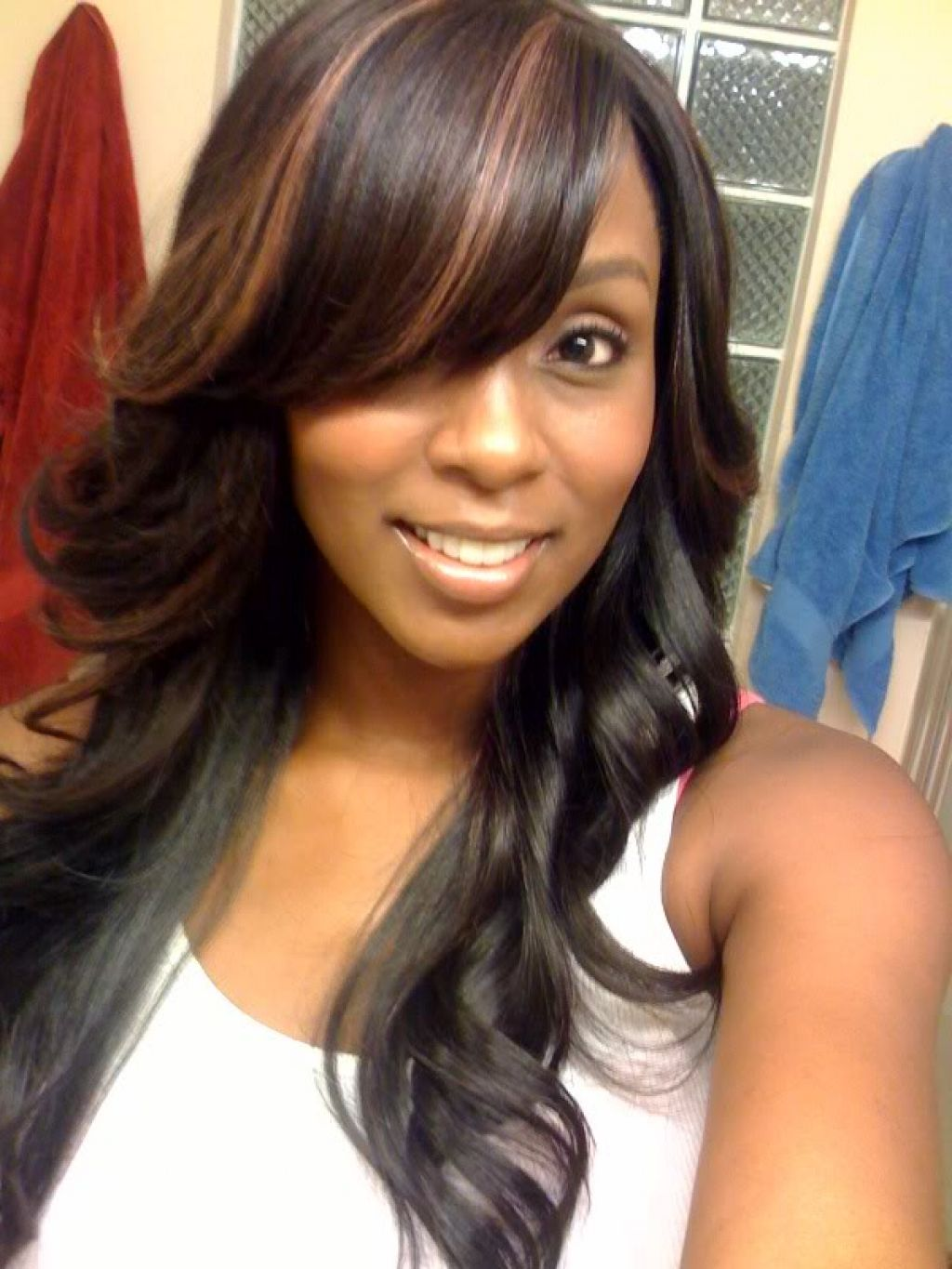 Curly Sew in Weave Hairstyles with Long Hair