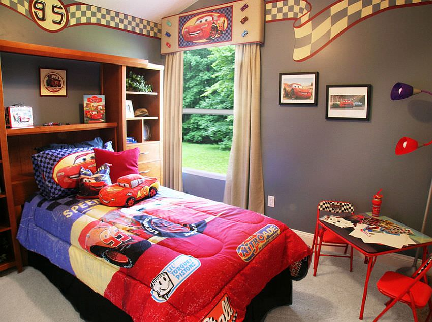24 disney themed bedroom designs decorating ideas for Disney car bedroom ideas