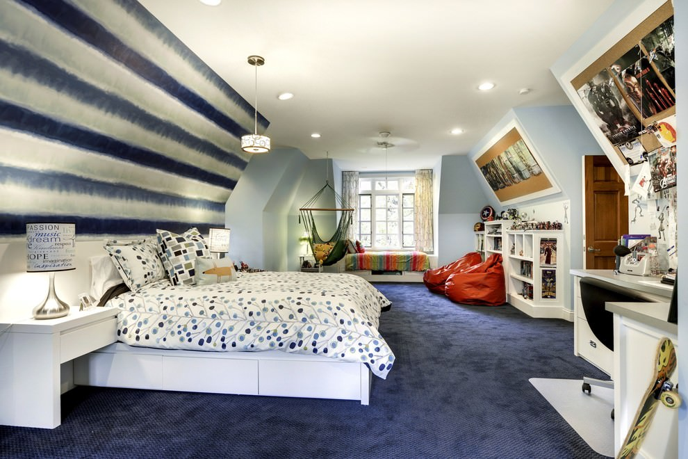 24 teen boys room designs decorating ideas design trends for Room interior design for teenagers