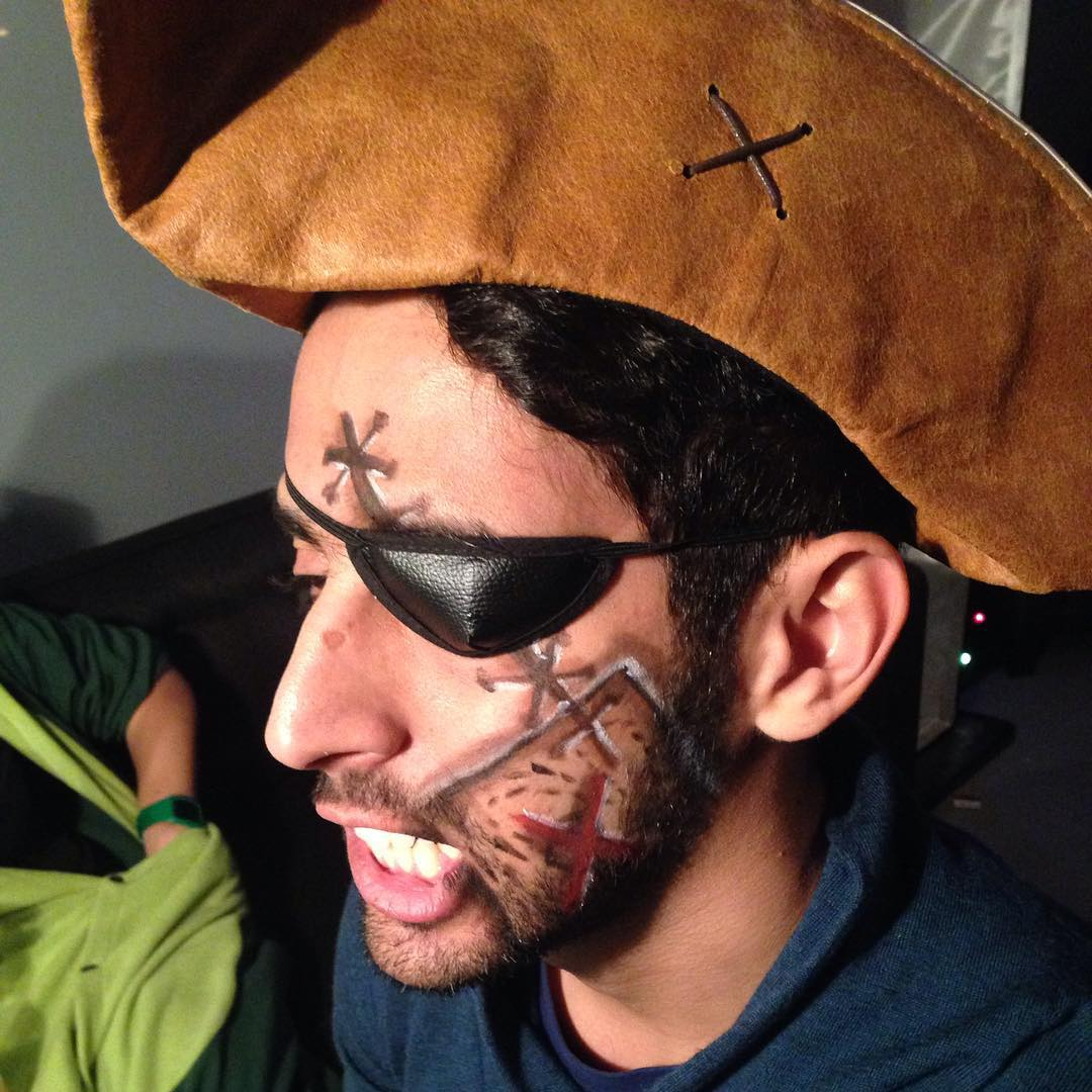 Male pirate makeup