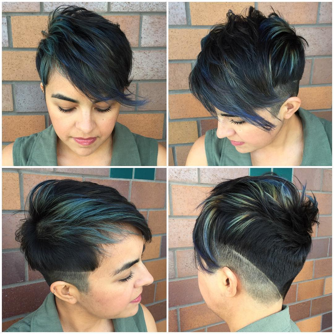 Pixie Haircut with Design
