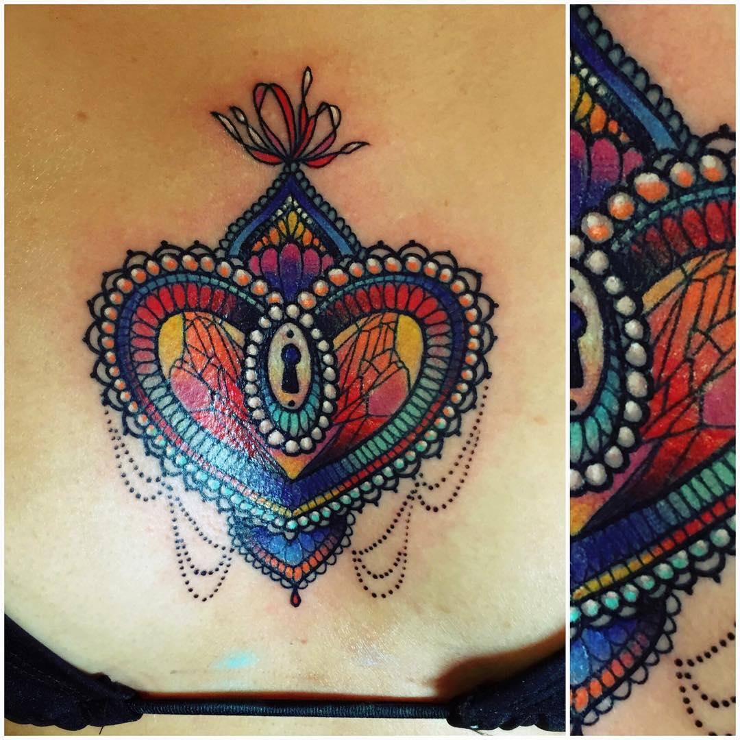 25+ Heart Locket Tattoo Designs , Ideas