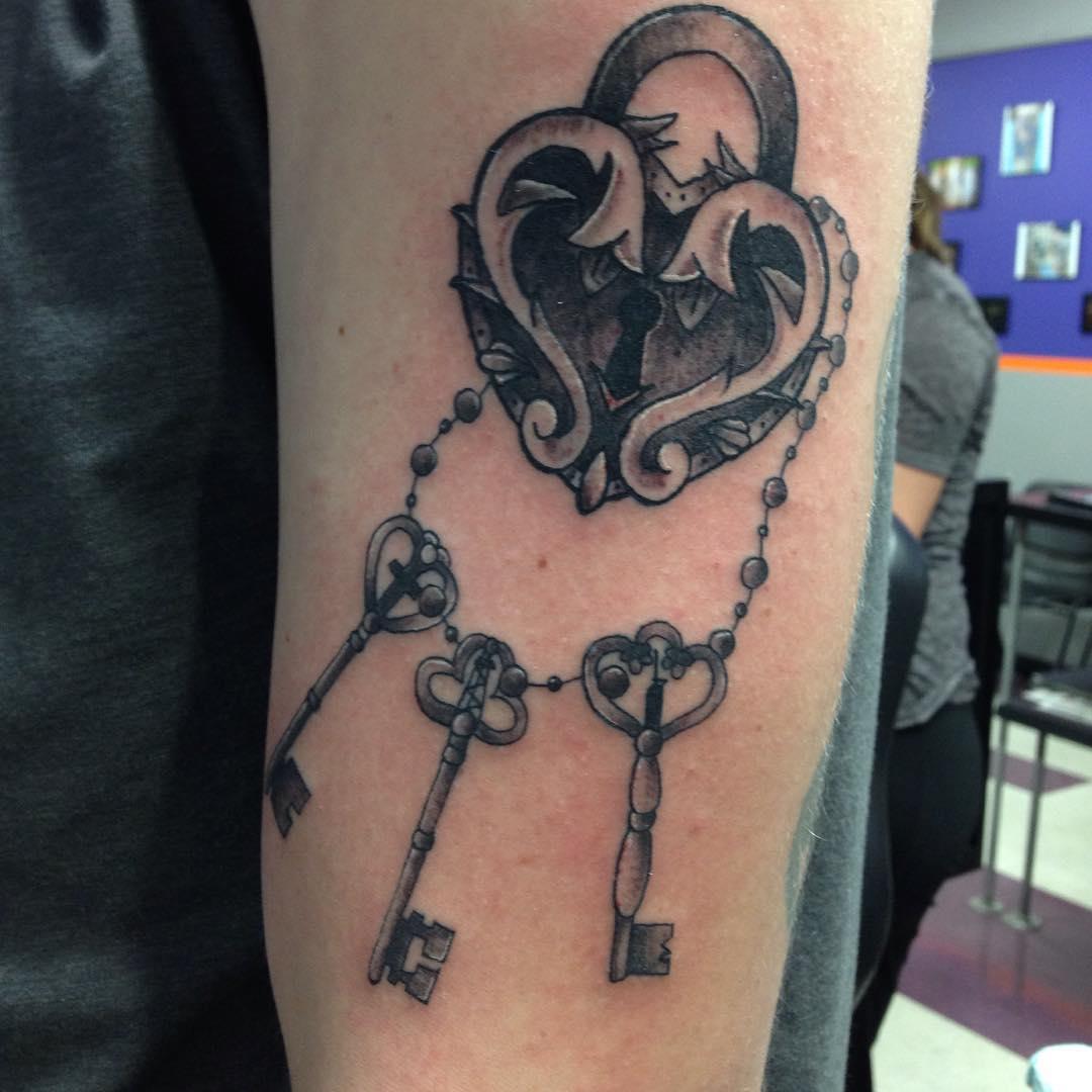 Key Tattoos Designs Ideas And Meaning: 25+ Heart Locket Tattoo Designs , Ideas