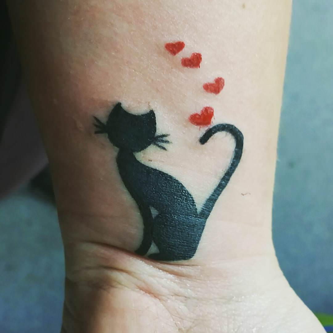 Cat And Moon Tattoo Designs