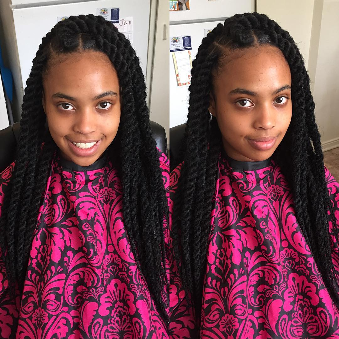 23+ Kinky Twist Hairstyle Designs, Ideas | Design Trends