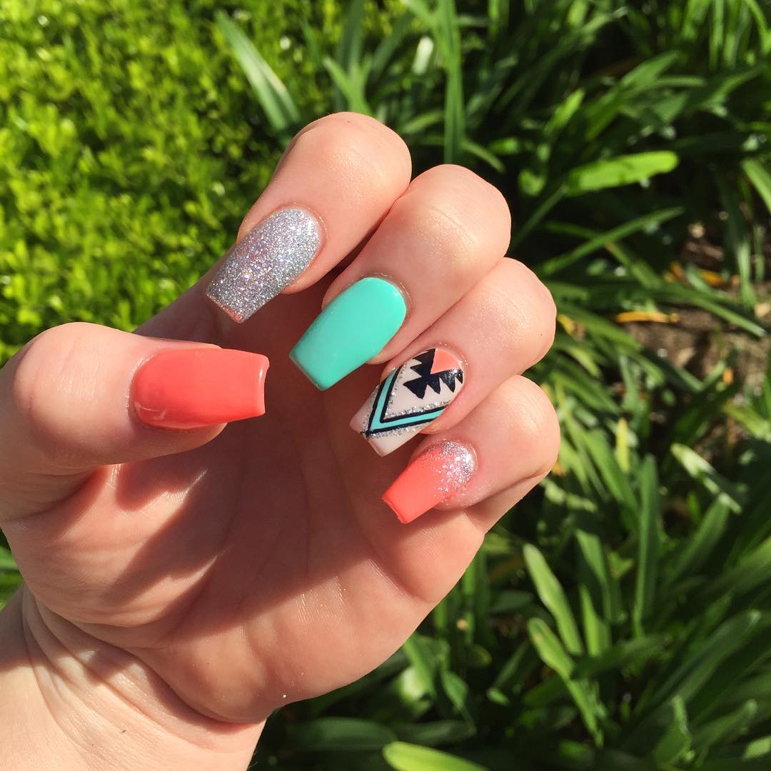 Best Nail Colours Summer 2016: Best Summer Acrylic Nail Art Design Ideas For 2016