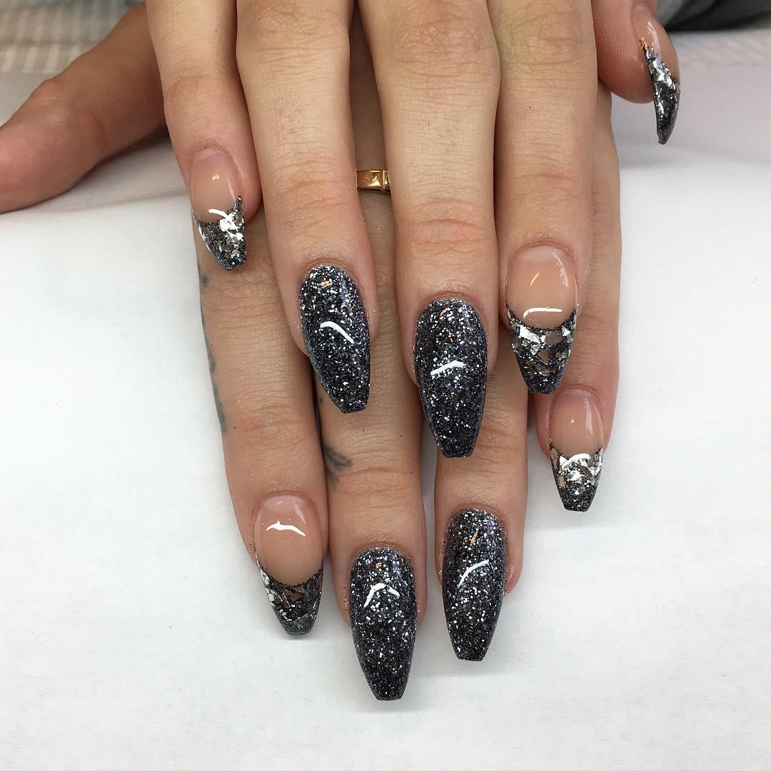 Black Dress Nail Color