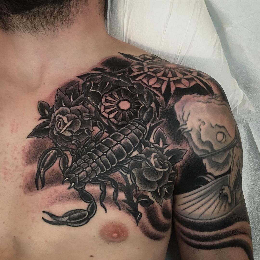 Scorpio zodiac tattoos for men scorpion tattoo black and blue scorpion - 26 Scorpion Tattoo Designs Design Trends