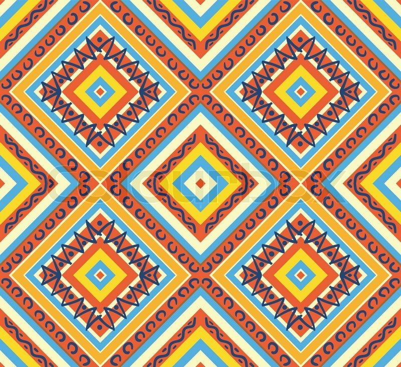 Aztec Patterns on Geometric Design Patterns Chevron