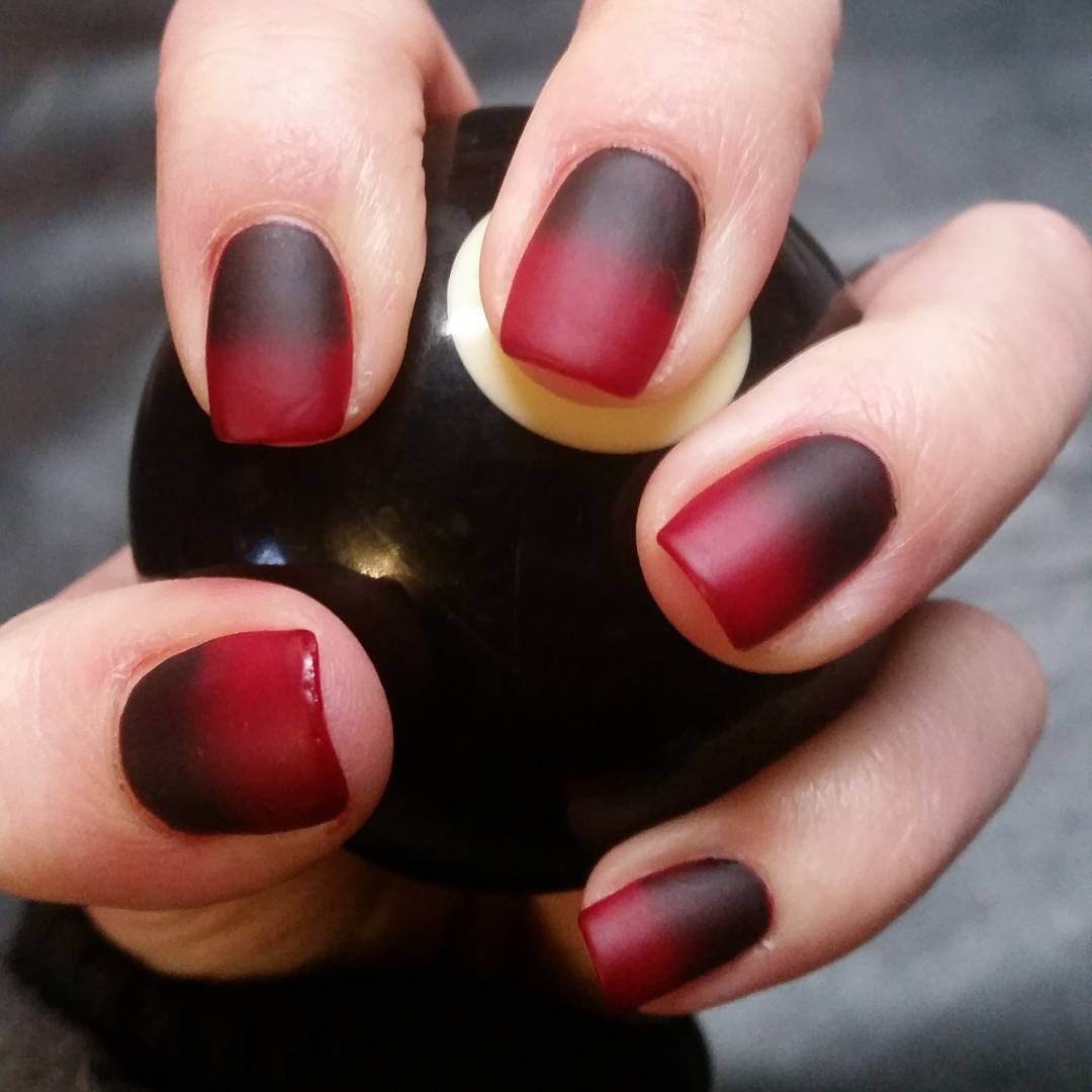 Simple Black And Red Nail Designs The
